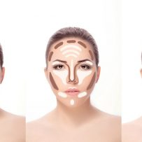 How to contour a long shape face