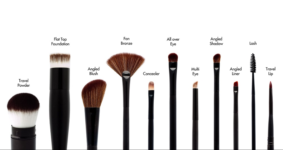 kinds of makeup brushes